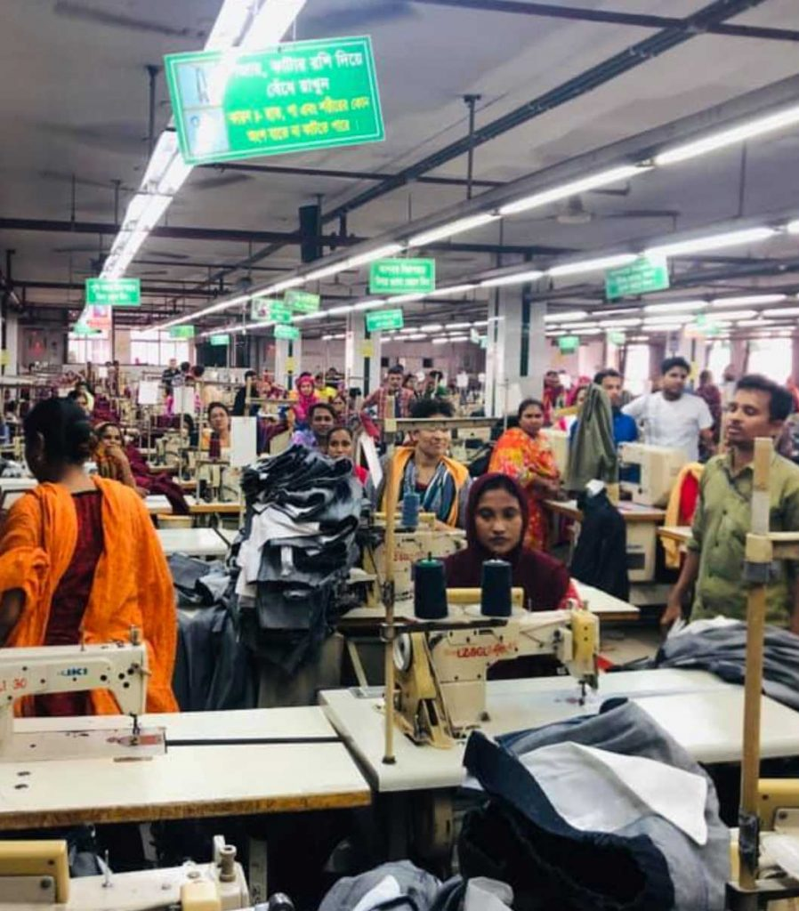 Workers in garment factory in Dhaka Bangladesh May 2019