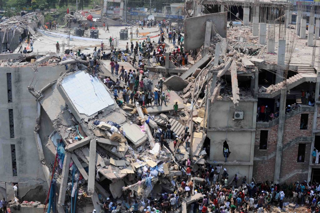 Rana Plaza factory collapse in Bangladesh 1132 garment workers died