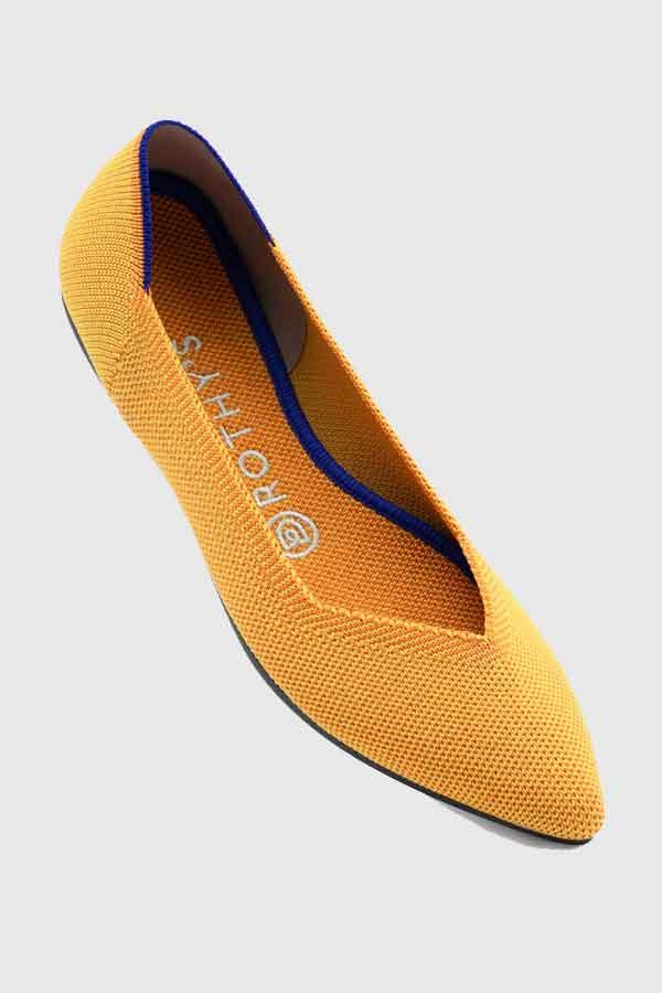 ROTHY S MARIGOLD FLATS sustainabel shoe label Los Angeles LA good fashion guide Eco Lookbook