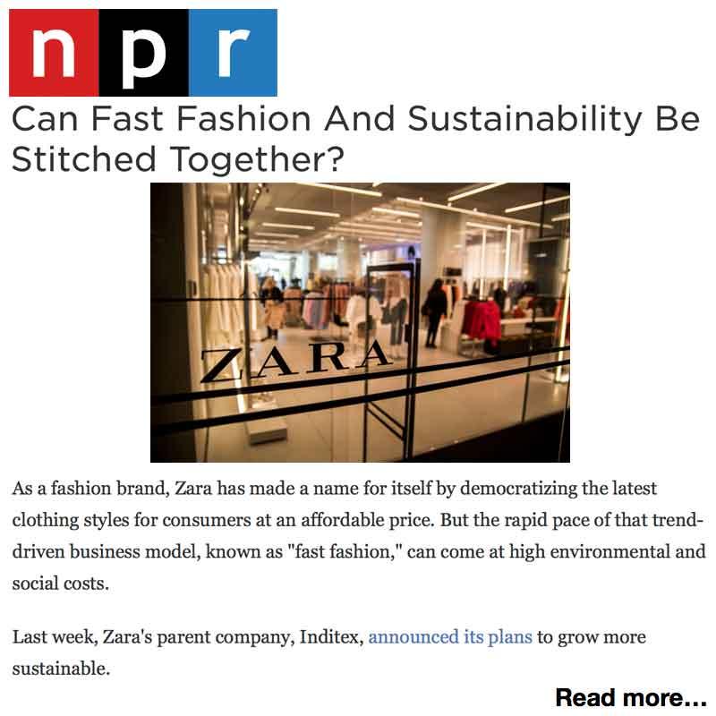 NPR Zara's 2025 Sustainability Push Draws Scepticism