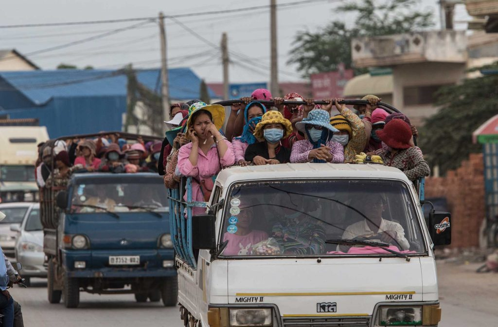 Garment workers go to work in Cambodia to earn as little as $100 a month