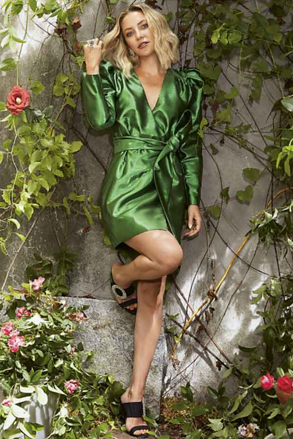 HAPPY X NATURE GLOBAL ECO LOOKBOOK Twilight green silk dress