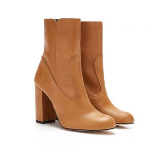 MORGAN B CAMEL FAUX LEATHER VEGAN ANKLE BOOTS Beyond Skin Eco Lookbook