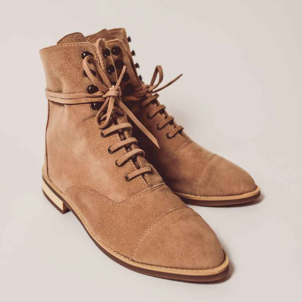 BHAVA LENA LACE UP BOOTIE sustainable ethically made boots booties good fashion guide ecolookbook