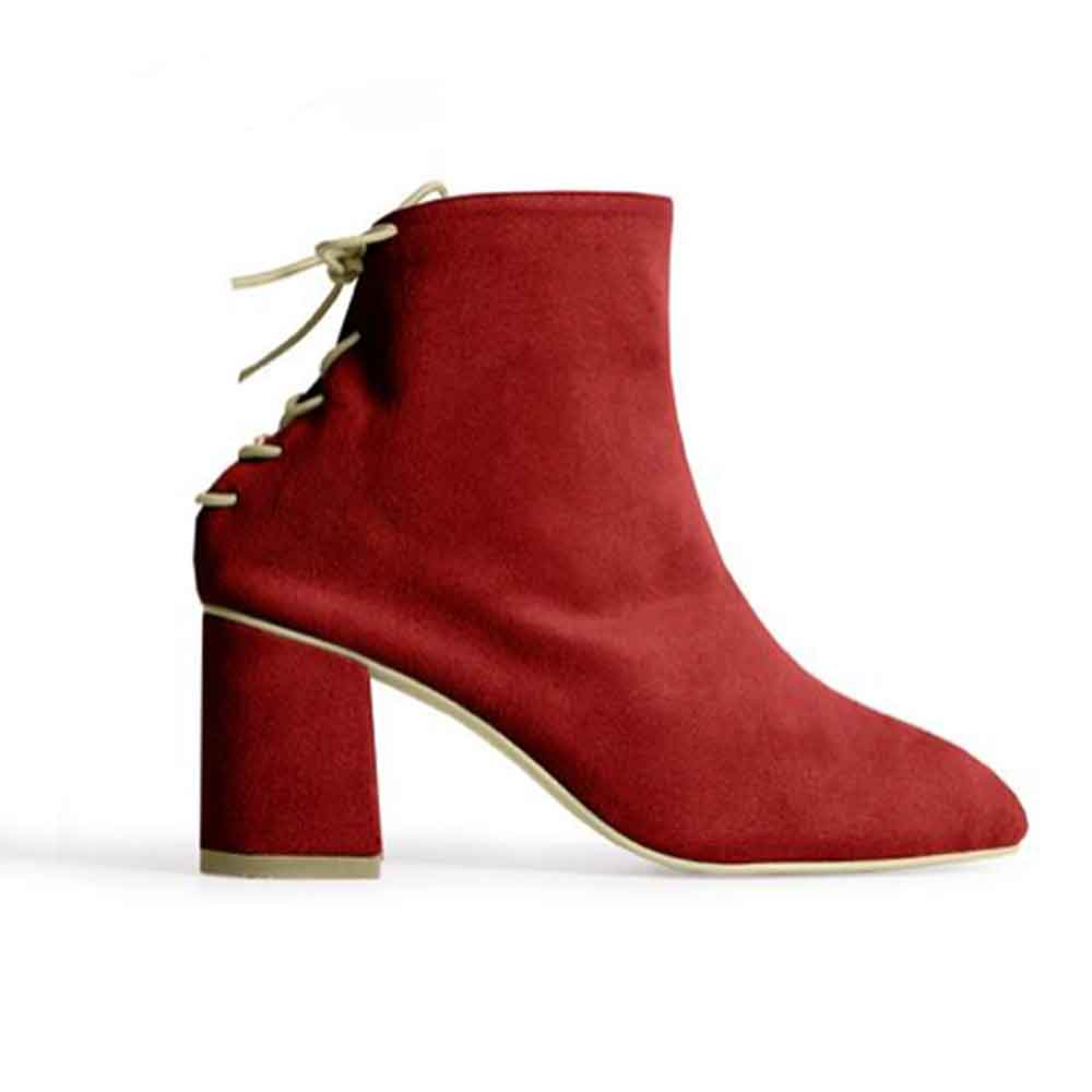 RAFA SOCK BOOT RUBY sustainable ethically made boots good fashion guide ecolookbook