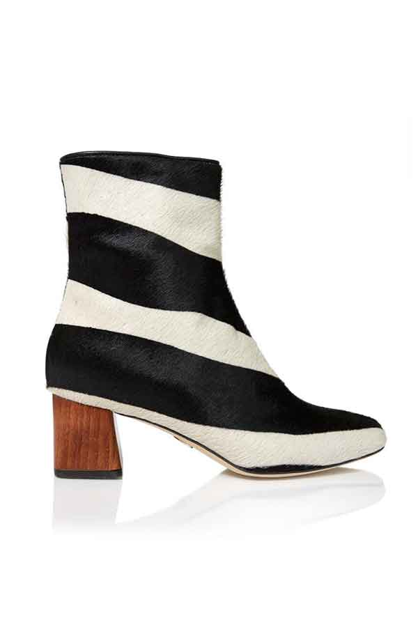 ECOLOOKBOOK DRESS SUSTAINABLE FROM HEAD TO TOE Brother Vellies boot ZEBRA KAYA