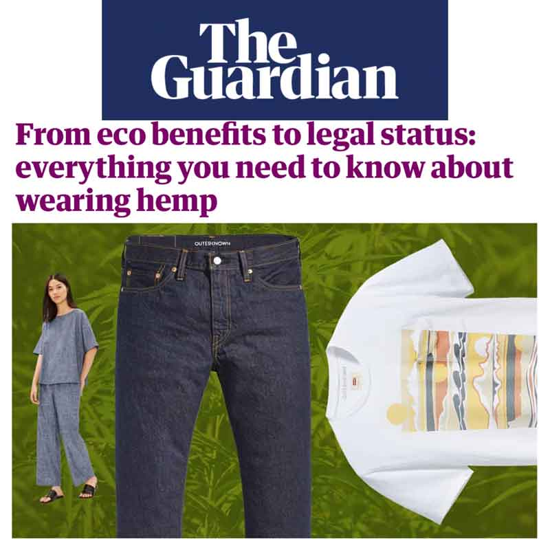 The Guardian From eco benefits to legal status: everything you need to know about wearing hemp