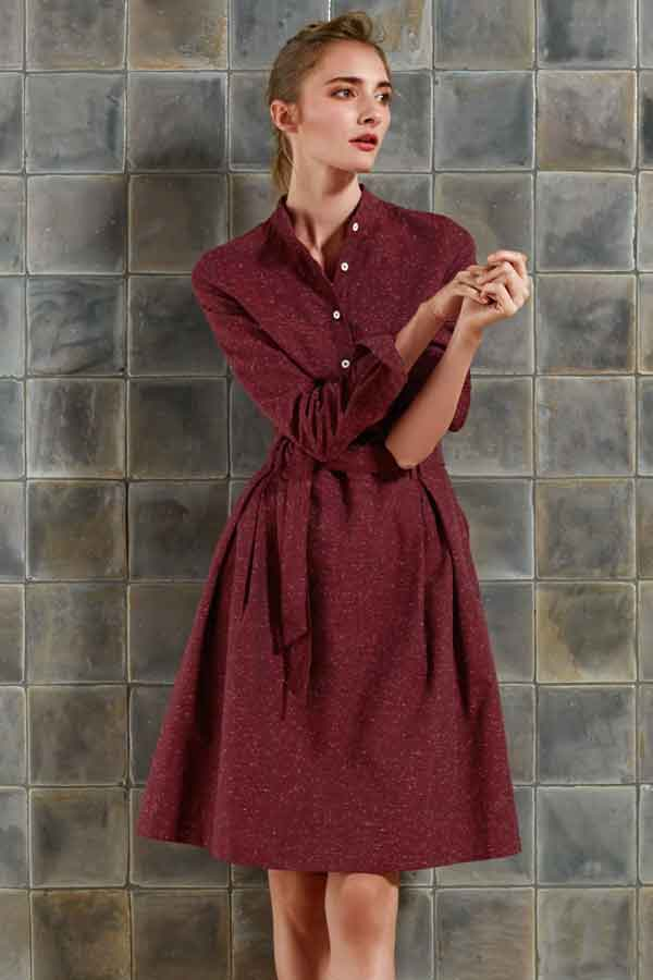 ANNETTE RUFEGER red shirt dress ethical sustainable good fashion guide ECOLOOKBOOK