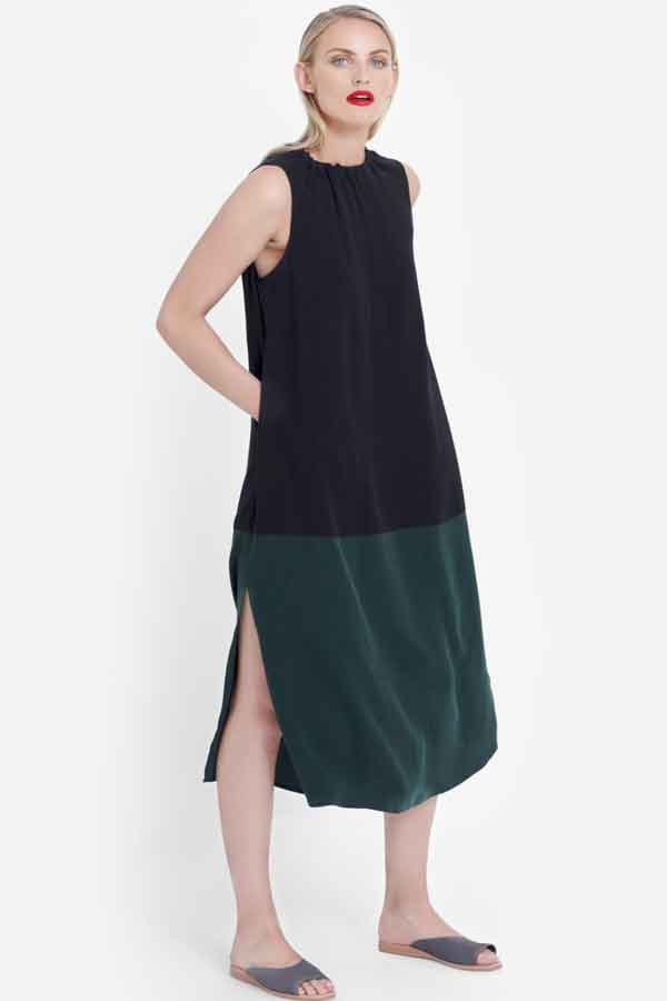 ELK THE LABEL Molger dress black forest ethical sustainable good fashion guide ECOLOOKBOOK