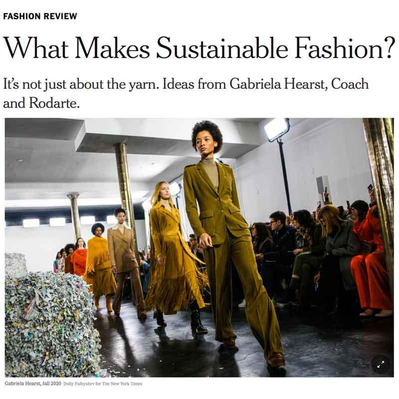 New York Fashion Week Gabriela Hearst Coach Rodarte