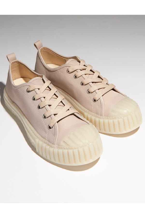 Sustainable Shoes Radical Yes 'The Future' Low Cut Lace Up - Blush Vegan