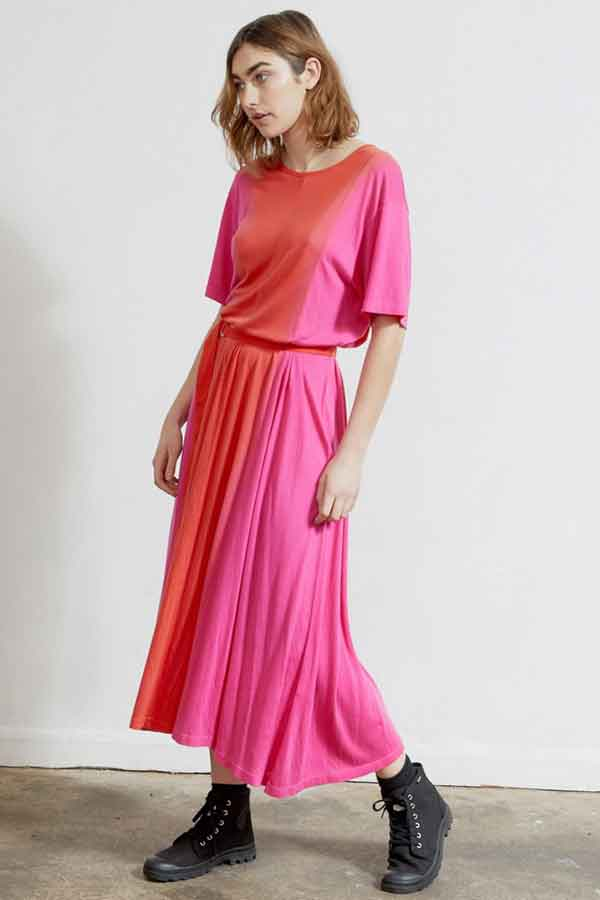 Ninety Percent Tencel Jersey dip dye drress Sustainable Ethical Fashion Brand