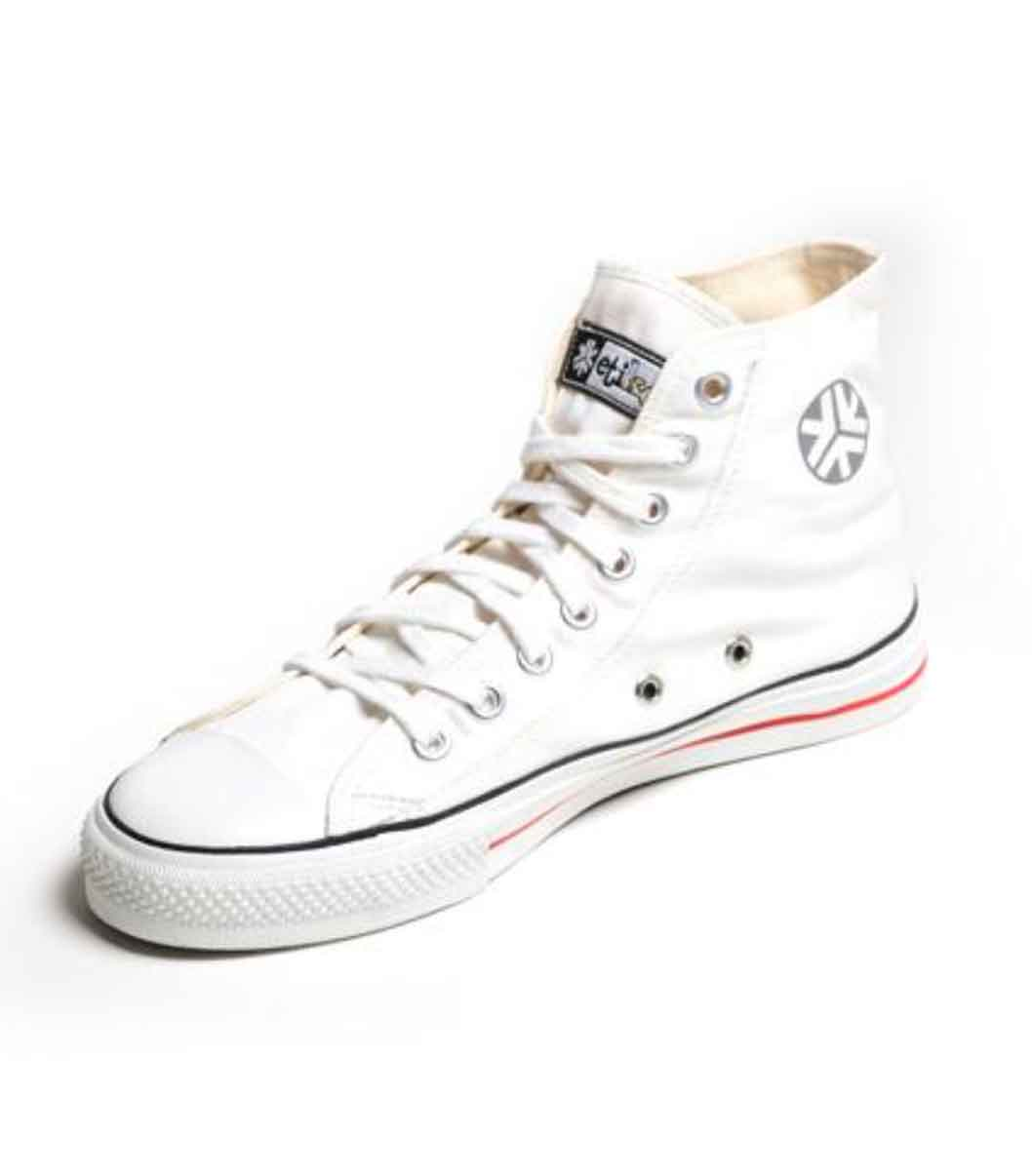 Sustainable Sneakers Hitops White Organic Fairtrade Etiko