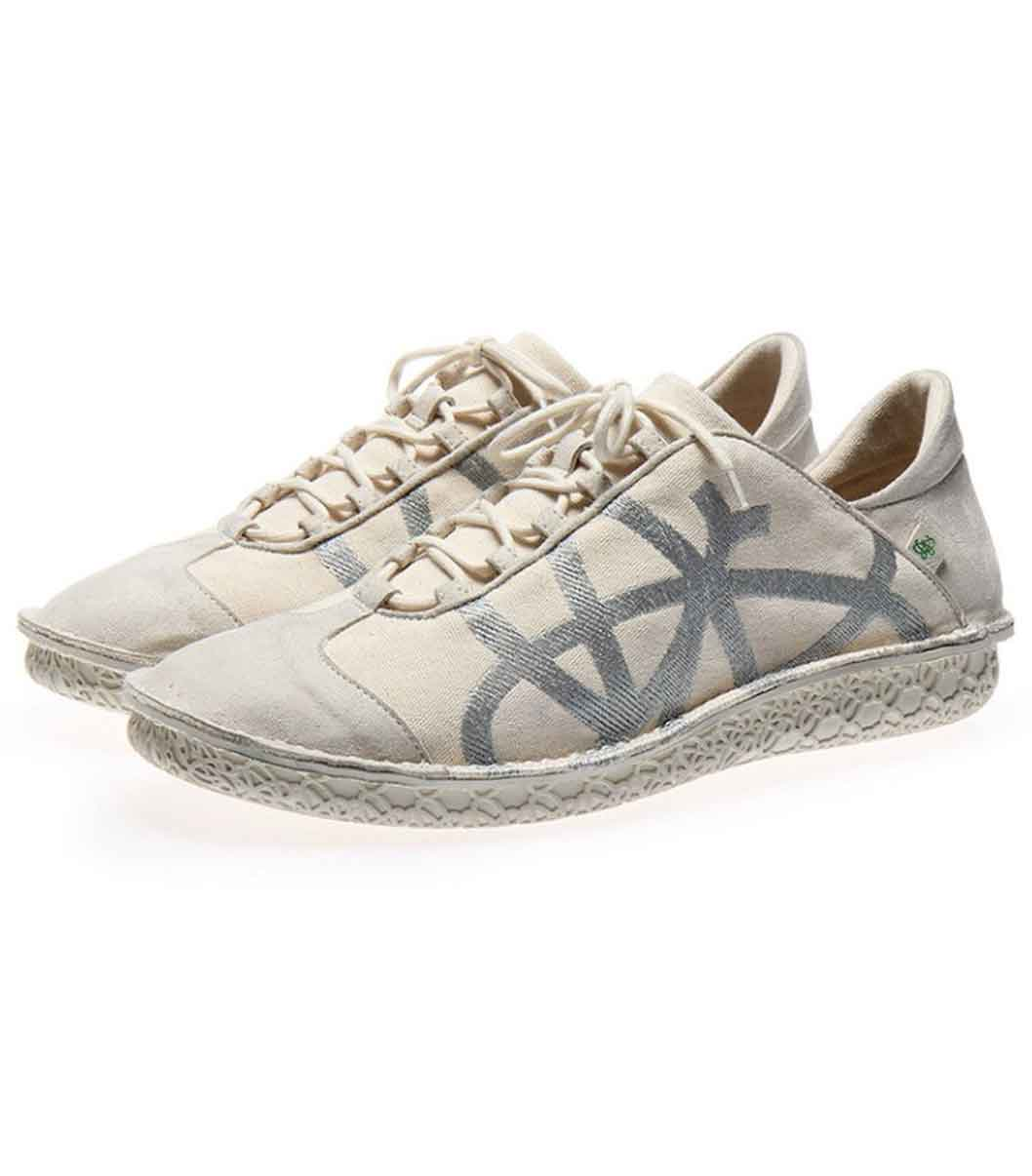 Women's Vegan Sneakers | Po-Zu Brisk V Off White | Sustainable Shoes
