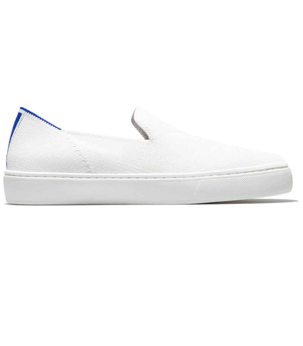 Rothy's Bright White Sneaker | Sustainable White Sneakers Brands You Should Know