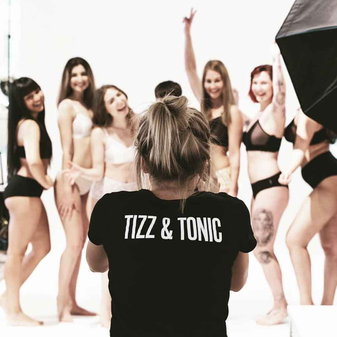 TIZZ AND TONIC UNDERWEAR PHOTOGRAPH MODELS SUSTAINABLE UNDERWEAR