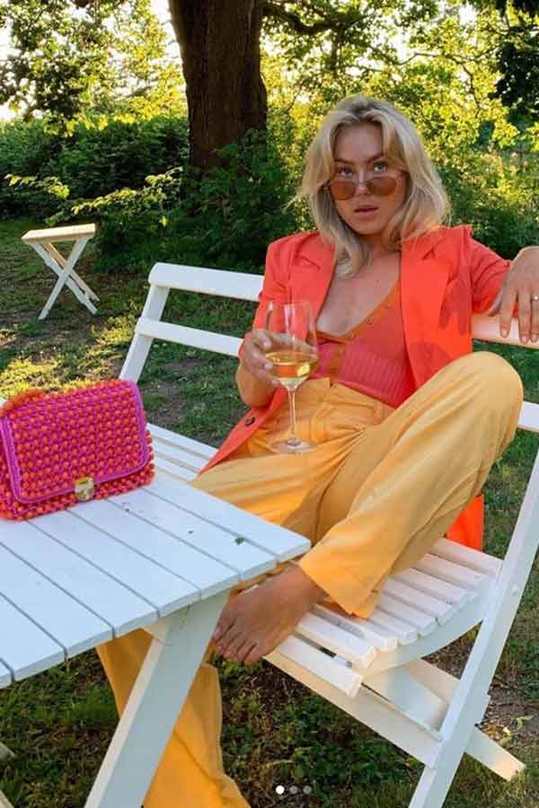 HUMANA SECONDHAND SWEDEN ORANGE YELLOW OUTFIT SECONDHAND LOOKBOOK ECOLOOKBOOK