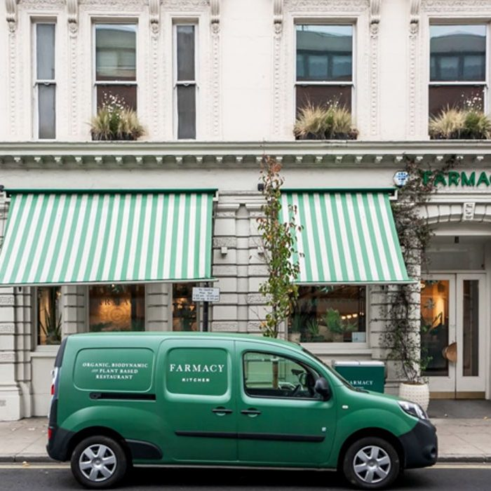 Going out in London sustainable restaurant Farmacy Kitchen