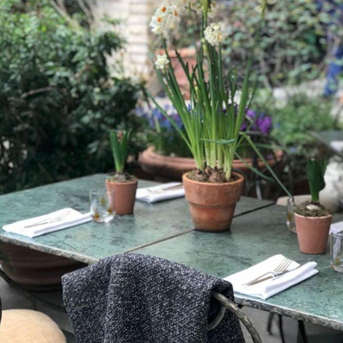 Going out in London sustainable restaurants Petersham Nurseries