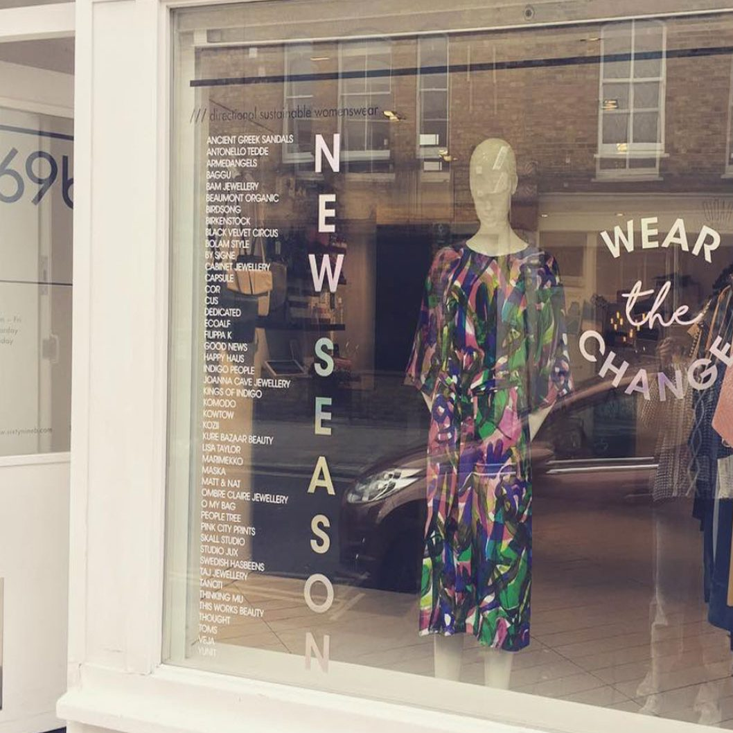Where to shop sustainable ethical fashion in London 69b Boutique