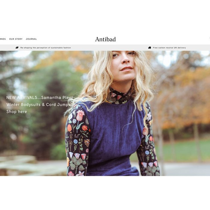 London ethical sustainable fashion online shop Antibad