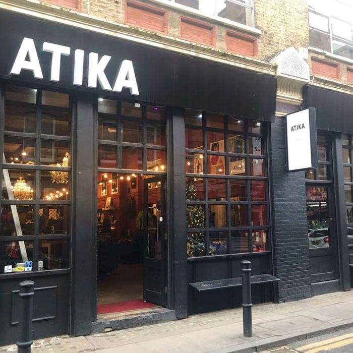 London shop vintage reworked sustainable fashion at ATIKA in Spitalfields
