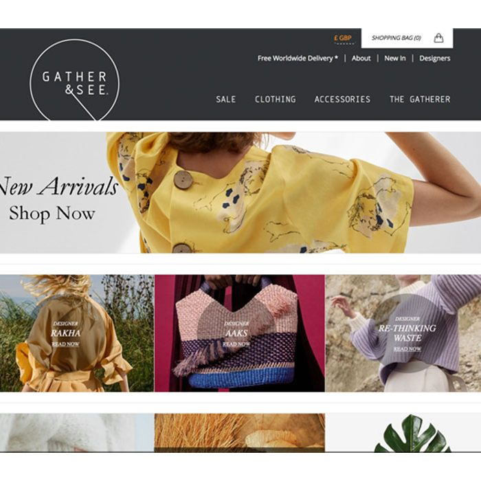 London ethical sustainable fashion online shop Gather & See