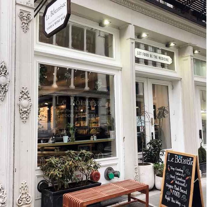 Going out in New York sustainable plant-based restaurants Le Botaniste